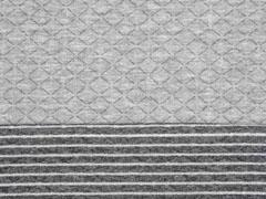 gesteppter Jersey Doubleface Rauten, grau silber