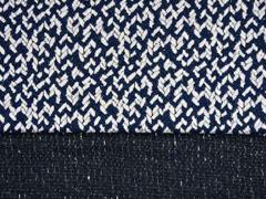RESTSTÜCK 75 cm Jacquard Jersey Pfeilspitzen, dunkelblau ecrue