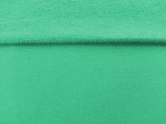 angerauter Sweat, smaragd grün