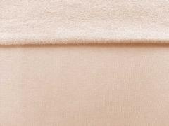 RESTSTÜCK 37 cm angerauter Sweat , nude