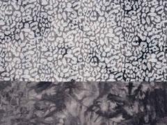 Viskosejersey Batik Leopard, schwarz