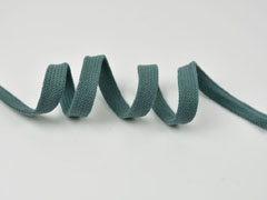 Flache Kordel Hoodiekordel Kapuzenband 15 mm, dunkles altmint