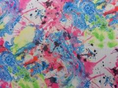 Chiffon Summer Splash - pink/hellgrün/blau