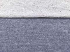 Sweatstoff meliert angeraut, graublau