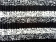 angerauter Strick Rippenmuster Streifen 4 cm, schwarz grau