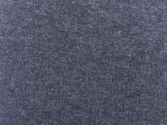 RESTSTÜCK 37 cm hellmelierter Strick, jeansblau