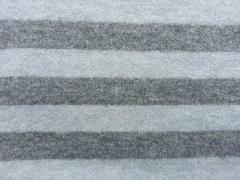 Wollstrick mit Mohair Blockstreifen, hellblau grau