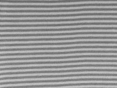 gestreiftes Bündchen - grau/hellgrau