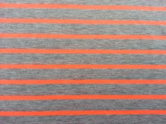Jersey Neon-Streifen - orange auf grau