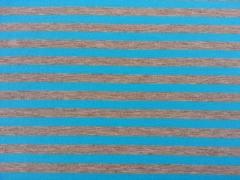 Jersey Neon-Streifen 1 cm  - türkis auf grau