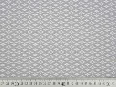 RESTSTÜCK 53 cm Bengalin Rauten & Ovale, taupe