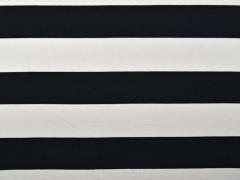 RESTSTÜCK 63 cm Jersey Blockstreifen 6,5 cm, schwarz-weiß