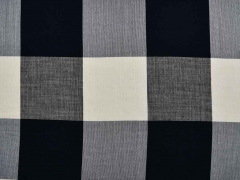 BW-Viskose Mix Karomuster, schwarz/ecrue