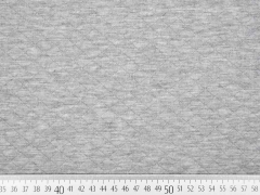 RESTSTÜCK 139 cm gesteppter Jersey Rauten, hellgrau melange