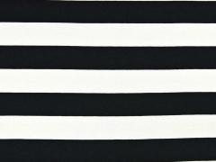 Viskosejersey Blockstreifen 2 cm, schwarz/weiss