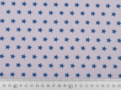 Baumwolle Sterne, indigoblau auf hellgrau