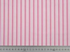 Baumwolle Streifen, rosa-weiß