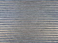 RESTSTÜCK 89 cm Jersey Glitzerstreifen, grau kupfer metallic