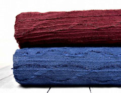 Strickstoff Wellen mit Struktur, jeansblau