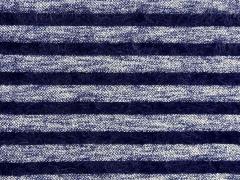 gestreifter Fransenstrick, dunkelblau