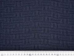 dicker Strick Stäbchen Muster, dunkelblau
