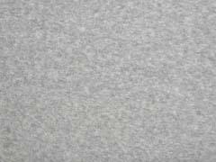 weicher Baumwollfleece, hellgrau melange