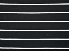 RESTSTÜCK 81 cm Viskosejersey Streifen Allegra, weiss/schwarz
