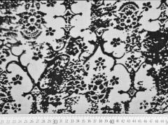 transparente Viskose Samtdruck Blumen, dunkelgrau
