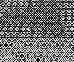 elastischer Jacquard Ornamente, schwarz-weiss