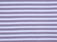 Organic Interlock Streifen, grau hellblau