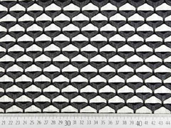 Jacquard Jersey Sanduhr grafisches Muster, anthrazit