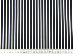 Baumwollsatin Streifen längs schwarz weiß