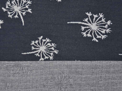 RESTSTÜCK 24 cm Jacquard Jersey Pusteblume, dunkelglrau grau