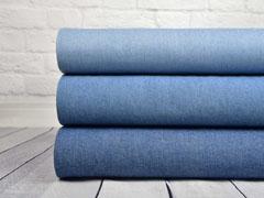 dickerer Jeansstoff mit Stretch, helles Jeansblau