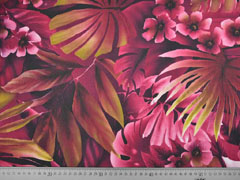 Chiffon Palmenblätter Blumen  beere