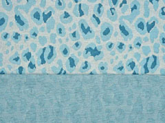 Jacquard Strick Leoparden Muster mint