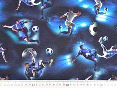 Jersey Fussballer Digitaldruck, schwarz blau