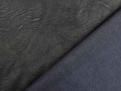 Lederimitat Vintage Look geprägte Optik, schwarz