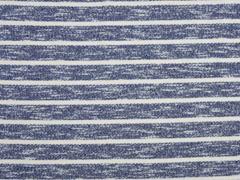 RESTSTÜCK 84 cm Sweat Streifen angeraut, dunkelblau creme