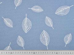 Canvas bedruckt Blätter, rauchblau