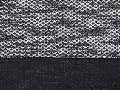 Strickstoff Strukturstoff Waffelmuster, schwarz ecrue