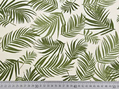 Canvas Blätter, khaki creme