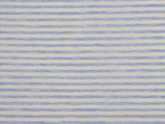 Jersey gestreift, hellblau meliert weiß