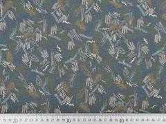 Jersey Kritzelstriche Blätter, dunkelgrau