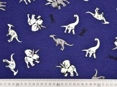 Jersey Dinosaurier 2 in 1 Panel Farbeffekt, blau