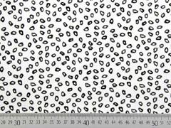 Baumwollstoff unregelmäßige Kreise, schwarz weiß