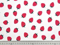 Jersey mit Duft Erdbeeren, rot weiß