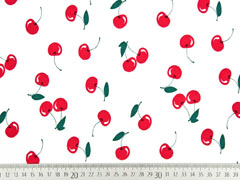 Jersey mit Duft Kirschen, rot weiß