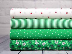 Baumwolle Blumen, weiß rosa grün