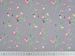 Baumwolle Blumen, grau